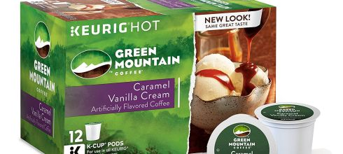 Green Mountain Coffee Caramel Vanilla Cream Coffee Keurig Single-Serve K-Cup Pods, 72 Count (6 boxes of 12 Pods)