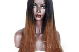 Human Hair Wigs for Black Women, Sunwell Lace Front Wigs Human Hair Silky Straight Wigs