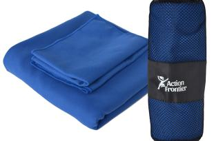 Action Frontier 4 Pack Microfiber XL Towel Set – 1 Towel, 2 Washcloths