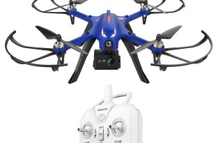 DROCON Brushless Motors Drone, Blue Bugs, 15 minutes Flying Time MJX Bugs 3 Quadcopter Support Gopro HD Camera