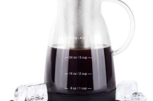 Bean Envy Cold Brew Coffee Maker – 32 oz – Premium Quality Glass – Perfect For Homemade Cold Brew and Iced Coffee – Includes Unique Non-Slip Silicone Base