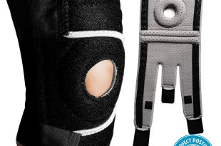 Perfect Posture Knee Brace Support with Open Patella for ACL, Arthritis, LCL, MCL. Side Stabilizers Non Slip Neoprene.