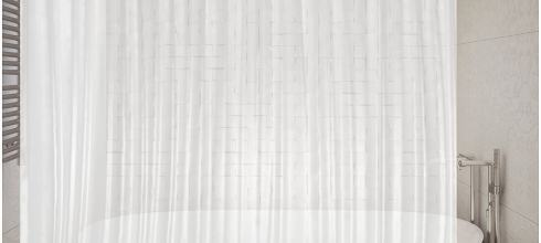 Premium PEVA Shower Liner / Curtain: Odorless & Mildew Resistant (with Magnets & Suction Cups). Eco Friendly 70 x 71 in. long - Frost Color