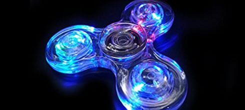 Kloss Fidget Toys Glow Hand Spinner Relieve Stress Toy