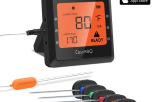 Meat thermometer, Silipower Wireless Digital Cooking Thermometer Instant Read