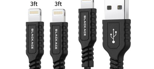 Lightning Cable BLACKACE 3Pack 3ft 3ft 6ft iPhone Charger Cable