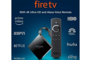 Amazon Fire TV Streaming Media Player (3rd Gen) with 4K Ultra HD and Alexa Voice Remote (1st Gen) $38.99
