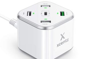 Xcentz USB Charger QC 3.0 + Type C 五孔充電器 $13.99