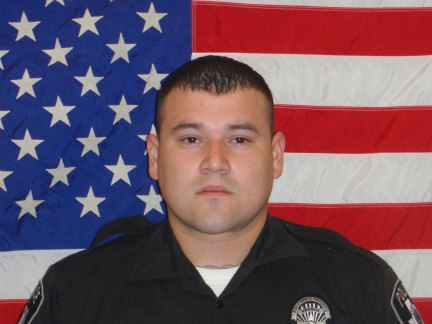 Julian Pesina, a Balcones Heights police officer, was shot and killed late Sunday while off duty in Northwest San Antonio. (Photo courtesy of the San Antonio Express News)