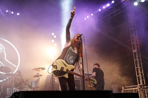 Laura Jane Grace of Against Me! performs onstage during 2016 Governors Ball Music Festival at Randall's Island on June 4, 2016 in New York City. (Photo by Taylor Hill/Getty Images for Governors Ball)