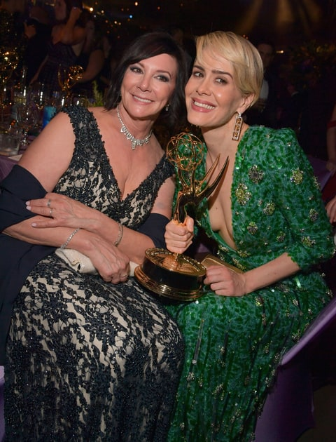 Sarah Paulson and attorney Marcia Clark attend the 68th Annual Primetime Emmy Awards Governors Ball at Microsoft Theater on September 18, 2016 in Los Angeles, California