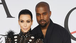 Kanye West Says He's 'Lucky' to Have Kim Kardashian During Concert As She Looks On