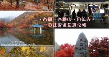 韓國賞楓推薦景點∥ 首爾、內藏山、白羊寺,追楓自由行 - 從首爾去內藏山的交通方法&一日往返詳細行程交通攻略