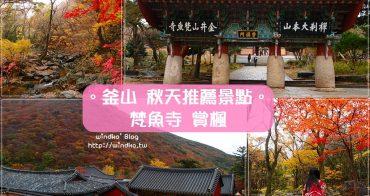 釜山推薦景點∥ 秋天就來梵魚寺범어사賞楓吧!山間寺廟與遠山楓紅的絕美景致