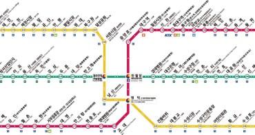 大邱交通攻略∥ 大邱地鐵路線圖/1~3號線/費用/地鐵圖下載/中文版&韓英文版地圖_2019年最新版