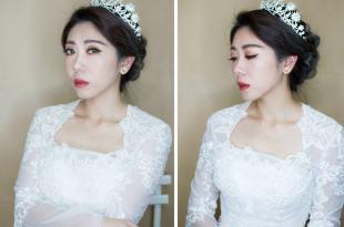 皇冠怎麼搭配白紗氣勢華麗的新娘造型