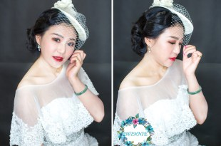 新娘秘書│經典的白紗復古風造型