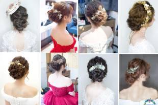 唯美浪漫的盤髮造型│婚宴的鬆鬆盤髮特輯