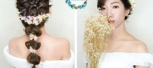 新娘秘書│打造短髮新娘的甜美風格
