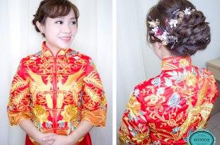 台南新娘秘書│文定秀禾服優雅造型