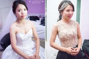 雲林短髮新娘戶外婚宴│歐式浪漫招牌造型風格