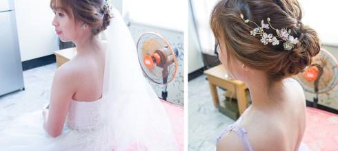 新娘秘書│招牌花飾品編髮訂結造型