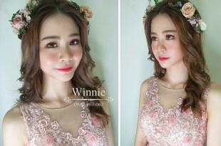台南新秘│浪漫甜美的花飾品公主新娘造型