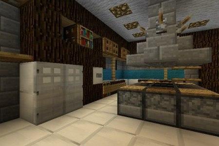 minecraft furniture designs for designing a kitchen!