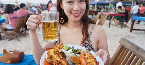 峇里島美食推薦 Lia Cafe海鮮大餐,雙人龍蝦大餐只要1400元!金巴蘭海灘上值得膜拜的Seafood!