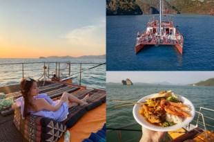蘭卡威行程|Langkawi遊艇之旅,海上看夕陽、吃BBQ晚餐,Chill到不行的出海行程