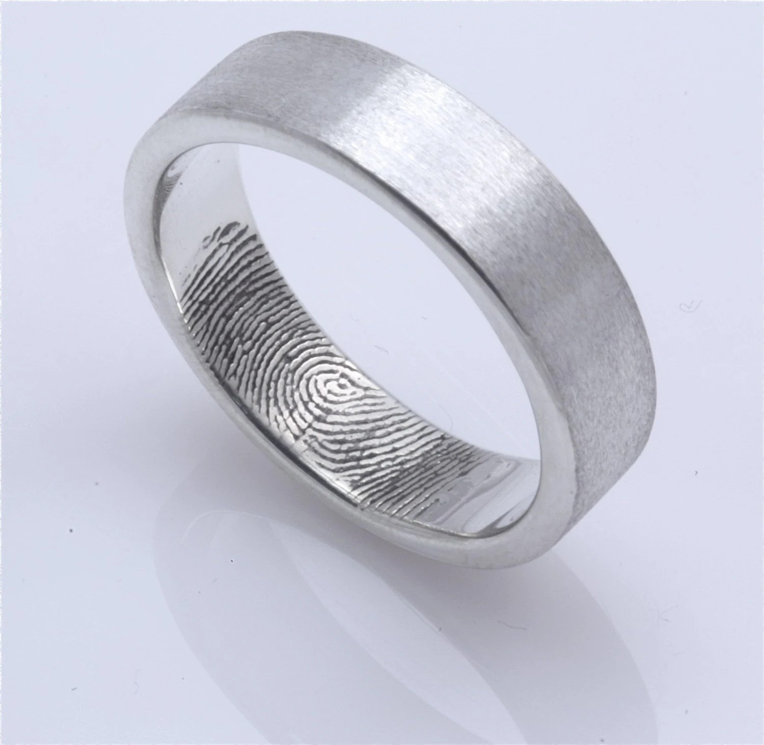 custom fingerprint wedding band with fingerprint wedding band zoom