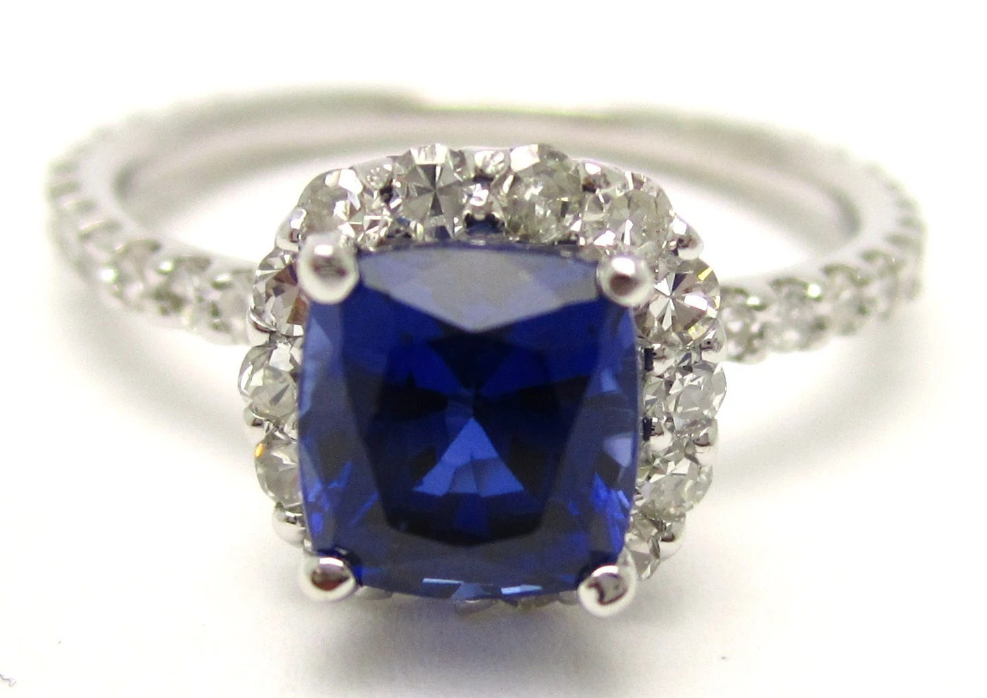 harry winston harry winston wedding rings 2 10ctw faceted blue sapphire diamonds engagement ring HARRY WINSTON style SA