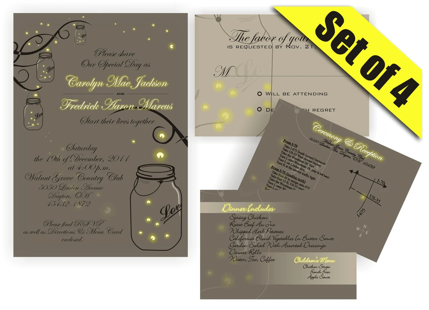 wedding invitation templates mason jar mason jar wedding invitations Invitations Template Mason jar bridal shower Request a custom order and have something made just for you