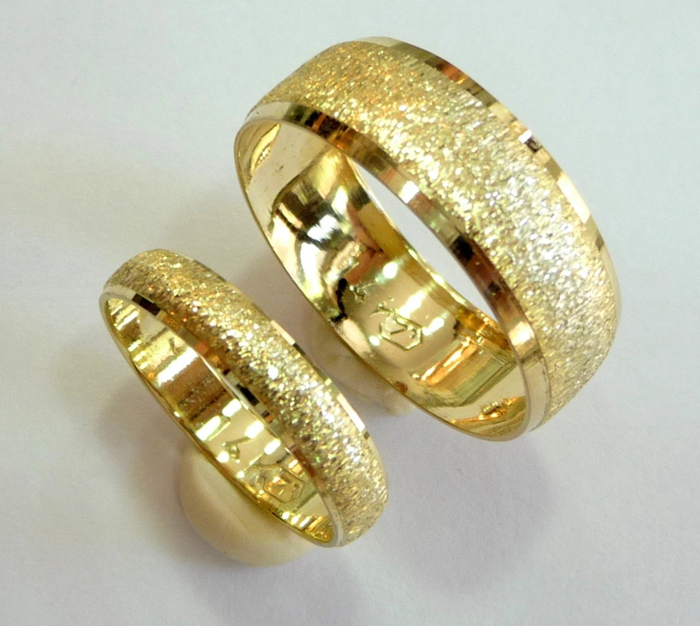 wedding bands set wedding rings woman gold wedding bands zoom