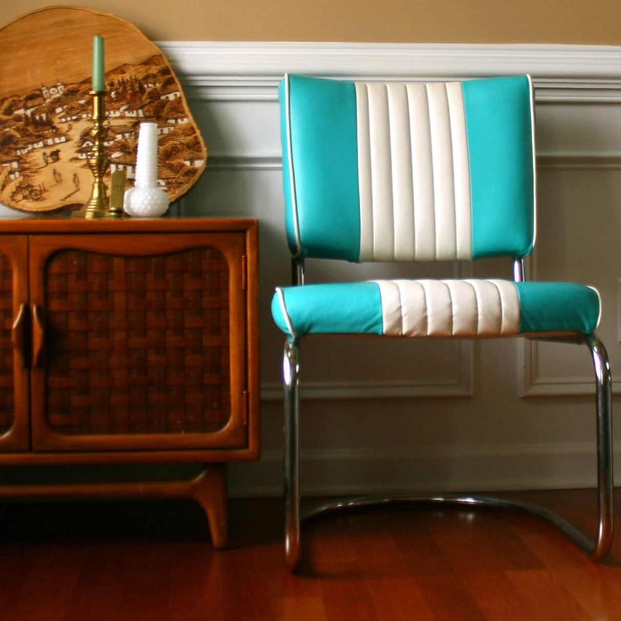 vintage turquoise chair retro diner turquoise kitchen chairs zoom