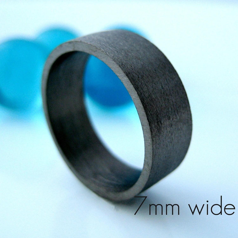 7mm wedding band black gold ring mens black mens wedding rings Ring Etsy Men s Black Wedding Band zoom