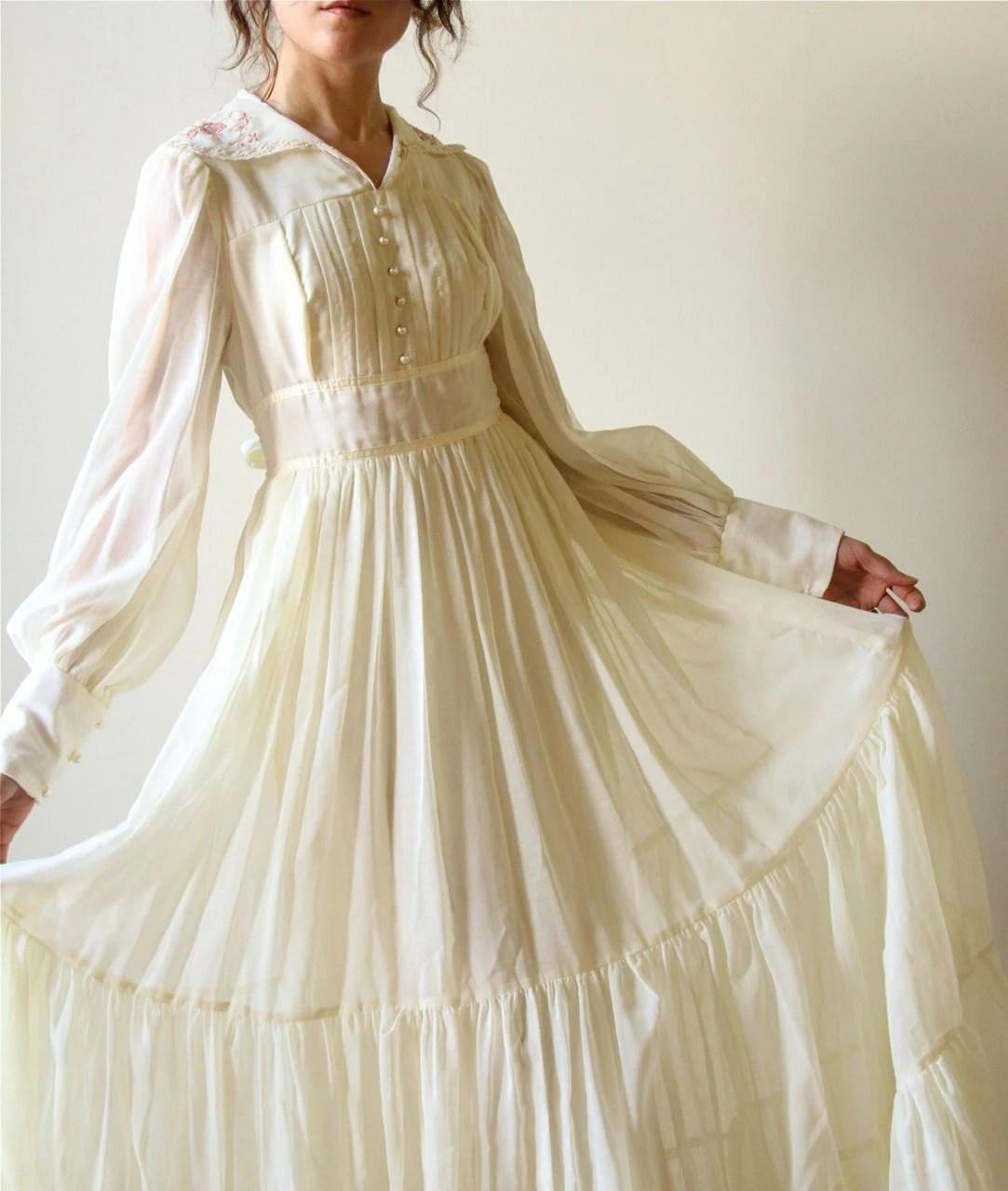 70s gunne sax boho wedding dress vintage vintage boho wedding dress zoom