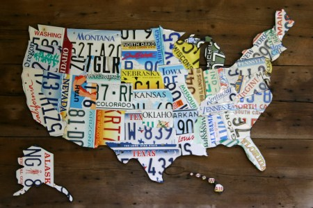 license plate map of united states large by thewoodenhinge
