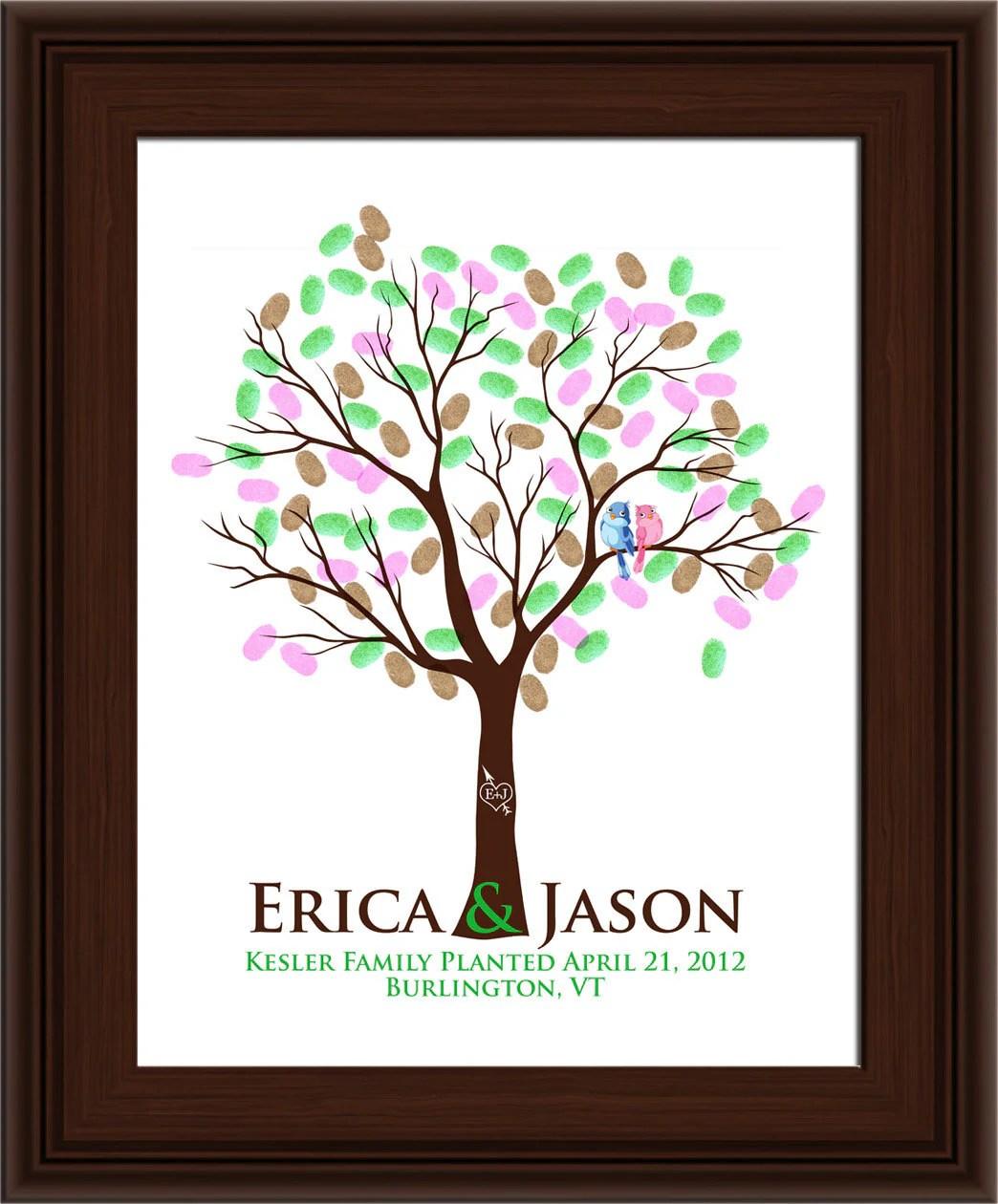 wedding tree guest book thumbprint tree wedding tree zoom