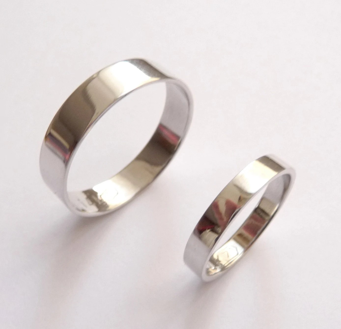 white gold wedding band set women white gold wedding band zoom