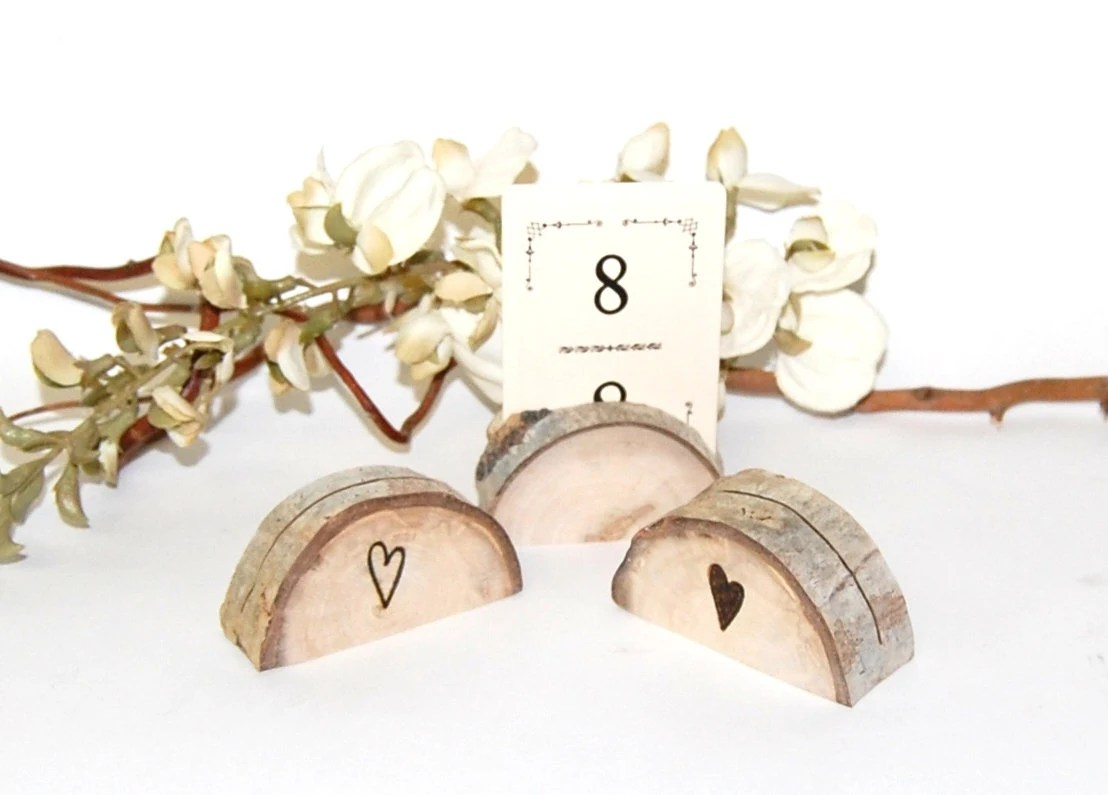 wood place card holders garden wedding wedding place cards Rustic Wedding Name Card Holder zoom