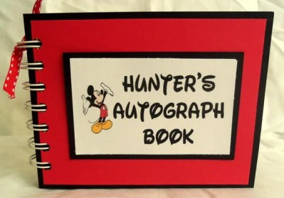 DISNEY AUTOGRAPH BOOK with your custom name
