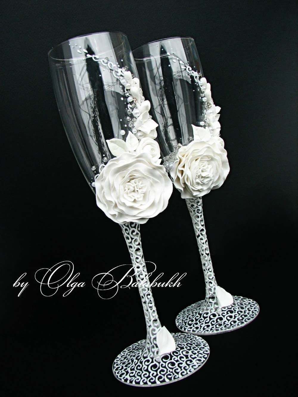 white champagne wedding glasses wedding glasses White champagne wedding glasses zoom
