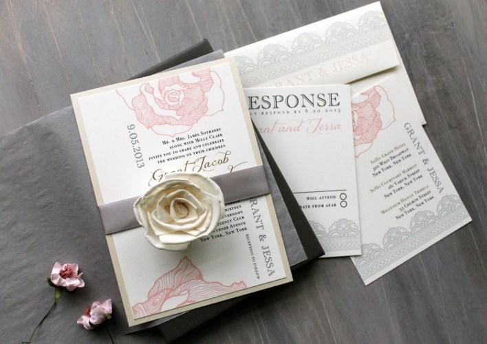 elegant boxed wedding invitations blush wedding invitations zoom