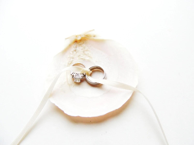 seashell ring bearer wedding ring holder wedding ring holder zoom
