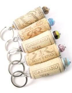 Wine Cork Keychains via Etsy