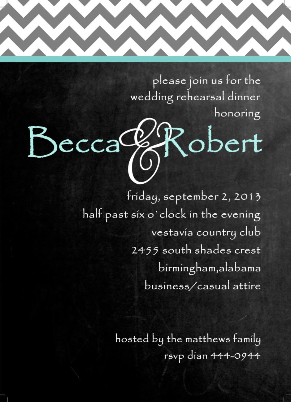 Rehearsal Dinner invitati...
