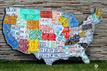 huge united states license plate map 10 feet wide usa