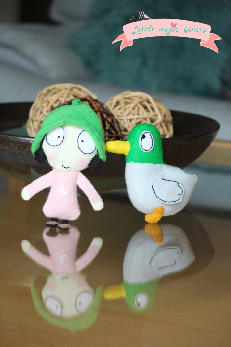 Sarah & Duck Pocket Size Mini Soft Dolls