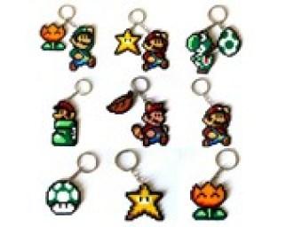 Super Mario Bros. perler keychains